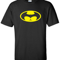 bat signal buttman butt man sexy lady man gotham movember Clothing bruce wayne ass man swag Funny t-shirt tee shirt comic book ML-305y