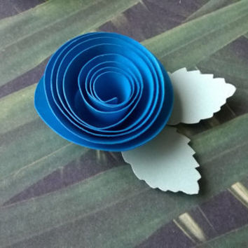 teal blue rose boutonniere groomsman pin back groom paper flower lapel brooch bridal party bridal shower wedding reception family favors