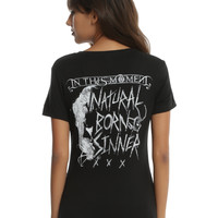 In This Moment Natural Born Sinner Girls T-Shirt