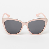 LA Hearts Light Pink Cat-Eye Sunglasses at PacSun.com