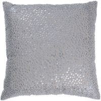 """Beaded Gray Pillow Cover (18"""" x 18"""")"""