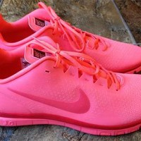 New Nike Free 3.0 Womens Hot Pink Running Sneakers Shoes Size 10.5