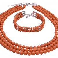 Anniversary Gifts Coral Angel Skin Pearls Jewelry