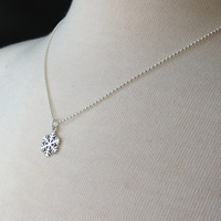 Snowflake Necklace, Sterling Silver Snowflake Necklace, Snowflake, Winter Jewelry, Sterling Silver Jewelry, Charm Necklace, Snowflake Charm