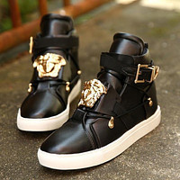 Versace classic high-top sneakers fashion men's and women's casual sports shoes