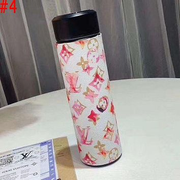LV Louis Vuitton X Hermes Intelligent Digital Display Water Cup Temperature Measuring Thermos 304 Stainless Steel Male And Female Filter Tea Cup Thermos Colorful