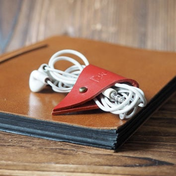 Leather Cord Holder #Red