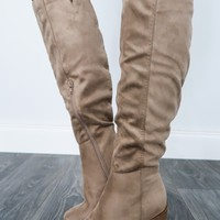 *Changing Seasons Boots: Taupe