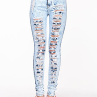 WRECKED HIGH WAISTED JEANS