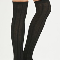 Textured Over-the-Knee Socks