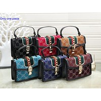 Gucci Fashion Lady Full-Printed Salad Zipper Single Shoulder Bag