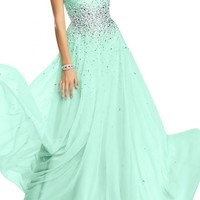 Angel Bride Chiffon Evening Dresses Party Dresses Prom Gowns Long