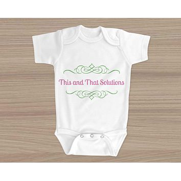 Personalized Baby Onesuit | Custom Baby Gifts | Baby Shower | Company Logo
