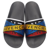 Givenchy Tide brand men and women letter straps beach sandals #1