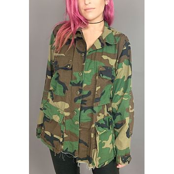 PRL Running Free Army Studded Camo Jacket
