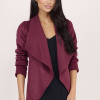 Waterfalling Draped Jacket