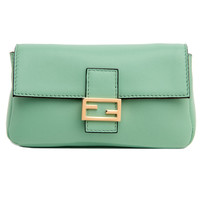 Fendi Winter Green Micro Baguette