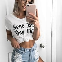 Send Me Dog Pics Graphic Tee