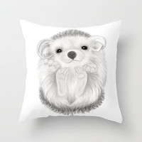 Baby Hedgehog Throw Pillow by Veronica Ventress | Society6