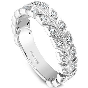 Noam Carver Diamond Leaf Stackable Band