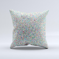 Colorful Small Sprinkles Ink-Fuzed Decorative Throw Pillow