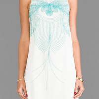 bless'ed are the meek Skeletal Dress in Ivory/Leaf Green