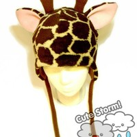 Giraffe Hat by CuteStorm on Etsy