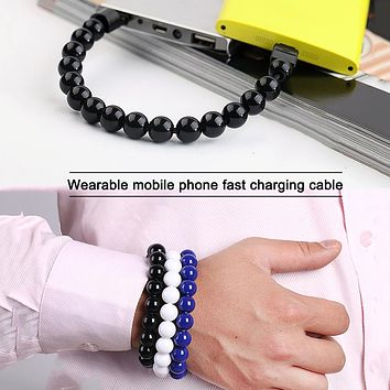 Creative Portable Bracelet Data Cable Short Bracelet Charging Cable Android Apple Stockings Shoes Dress Bikini bag