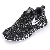 Casual Mixed Color Mesh Canvas Flat Sport Walking Shoes