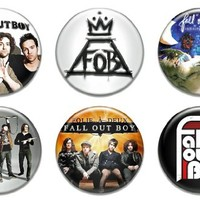 """6 New Fall Out Boy 1.25"""" Pinback Button Badge Pin Set Two"""