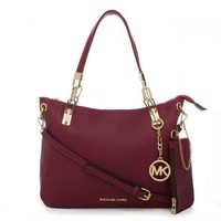 MK Women Shopping Bag Leather Satchel Handbag Shoulder Bag Crossbody Tagre™
