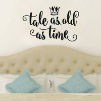 Inspired by Beauty and the Beast Wall Decal Sticker Tale As Old As Time