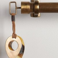 Leather-Latched Horn Finials by Anthropologie in Bronze Size: One Size House & Home
