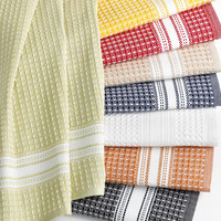 Martha Stewart Collection Waffle Weave Kitchen Towels