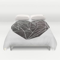 Heart Graphic 4 Duvet Cover by Mareike Böhmer Graphics And Photography