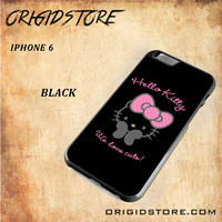 Hello Kitty Snap on 2D Black and White Or 3D Suitable With Image For Iphone 6 Case