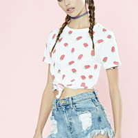 Watermelon Popsicle Print Tee