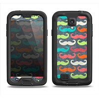 The Colorful Scratched Mustache Pattern Samsung Galaxy S4 LifeProof Fre Case Skin Set