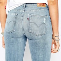Levi's 721 High Waist Skinny Jeans With Patch Knee Detail
