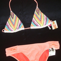 New Victoria's Secret Sexy Bling Sequin Embellished Bikini Swimsuit S