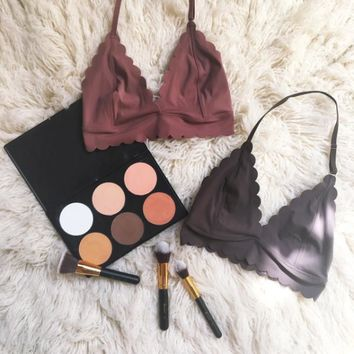Out From Under Sierra Scallop Fusion Bra | Urban Outfitters