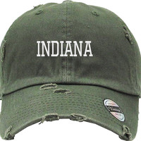 INDIANA  Distressed Baseball Hat
