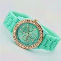 Mint Color Silicone Watch 002 from topsales