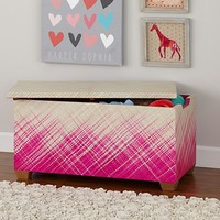 Color Weave Toy Box (Pink) in Toy Boxes & Benches | The Land of Nod