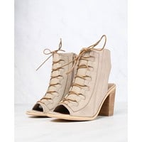 Very Volatile - Dapper Taupe Heeled Sandals