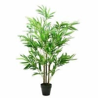"""51.5"""" Decorative Potted Artificial Two Tone Green and Brown Bamboo Plant"""