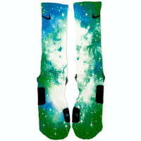 Ocean Galaxy Custom Nike Elite Socks