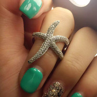 Shiny Gift Jewelry New Arrival Stylish 925 Silver Sea Elegant Strong Character Accessory Star Ring [4989655556]