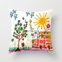 :: A Day in the Life :: Throw Pillow by GaleStorm Artworks   Society6