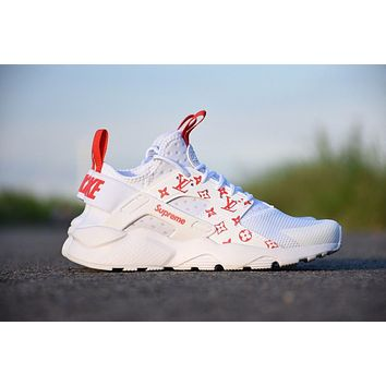Nike Air Huarache LV 819685-108 men/women running shoes color white&red